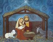 Nativity Holy Family Art Print 8X10 by Ann Gardner