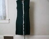 RESERVED Hunter green vintage dress RESERVED
