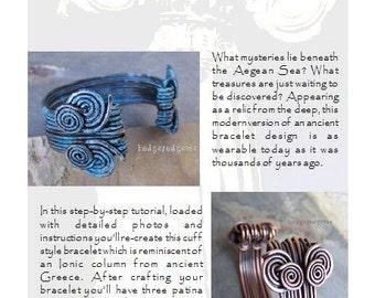 Aegean Cuff Bracelet Tutorial