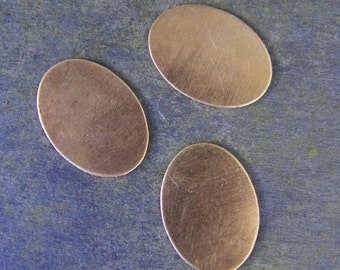 Small Oval Shaped Brass Stamping Blanks for Charms, Tags or Embellishments