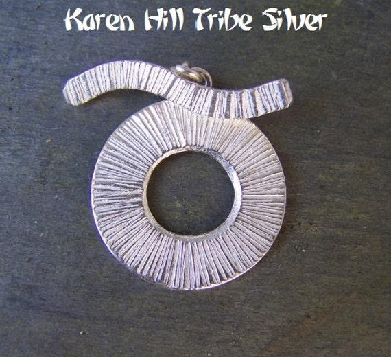 Karen Hill Tribe Silver Medium Round Toggle