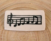 Sheet Music Porcelain Pin