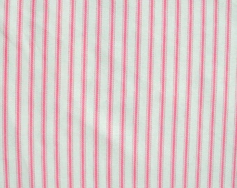 Pink Ticking Fabric -one yard