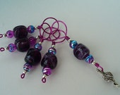 SALE  Cosmic Waves w\/yarn and needle Stitch Markers
