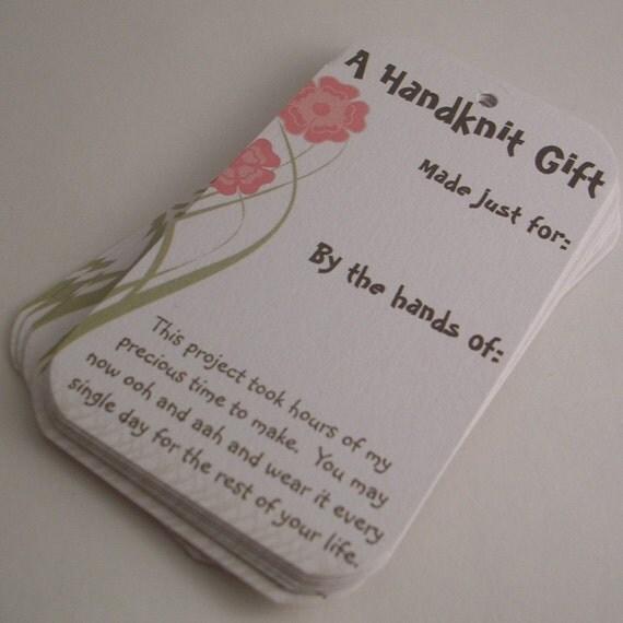 Knitting Gift Tags : Knitting gift tags selfish