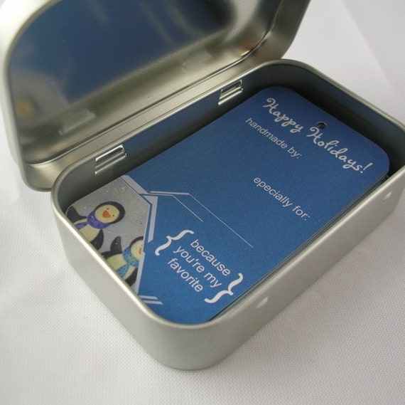 25 Fiber Friendly Gift Tags - Penguin