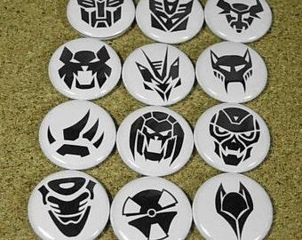 12 Transformer Buttons