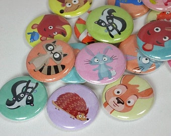 20 Forest Animal Buttons