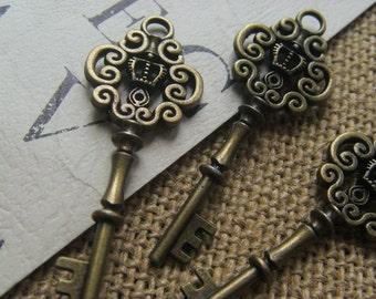 10x Filigree Crown Key 42x17 mm - key Code 2063