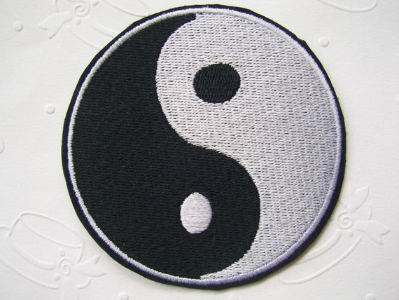 Chinese YIN YANG Symbol Iron On Patch 65x65 mm (2.5 x 2.5 inches) - Code PC011