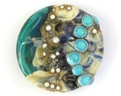 REDUCED PRICE - Wishing Stone 3 - Handmade Lampwork Glass Focal Bead by Sarah Hornik