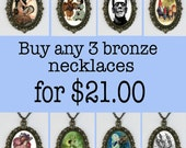 Buy 3 deal of my 8.00 bronze pendant necklace GREAT GIFTS