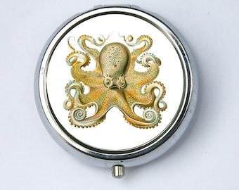 Octopus pillbox PILL CASE pill box holder pillbox  STEAMPUNK gothic nautical