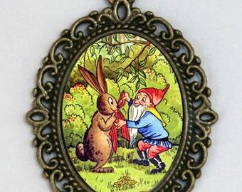Gnome & Bunny necklace fairytale