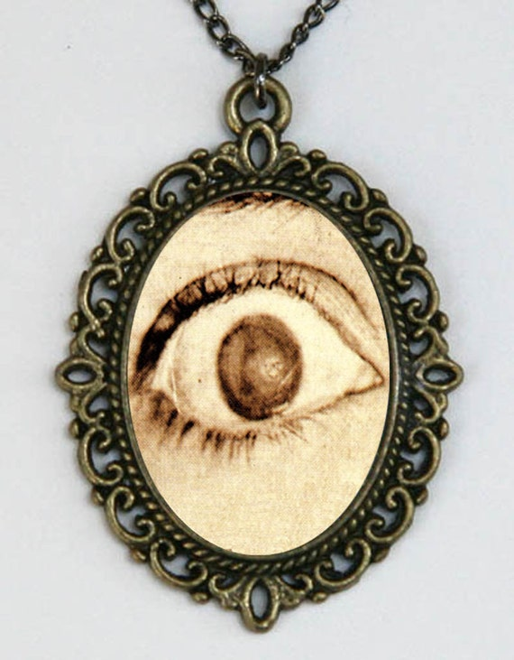 Eyeball Necklace Scared Diy  Horror Goth Creepy PARANOIA punk