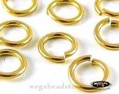 50 pcs 4mm GOLD FILLED Jump Rings Open 22 gauge Connectors F29GF