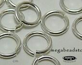 50 pcs 5mm Sterling Silver Open Jump Rings 20.5 gauge F29