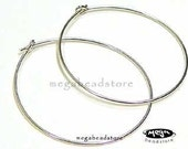 30mm Beading Hoops 925 Sterling Silver Round Ear Wire F215 - 20 pcs