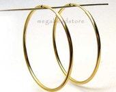 40mm Gold Filled Endless Hoop Earring Earwire F336GF- 2 pcs
