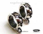 925 Sterling Silver Charm Holder Fit 3mm Bracelet F206-10 pcs
