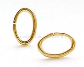 40 pcs Oval 14K Gold Filled Jump Rings 6.4mmx 4mm Open F375GF