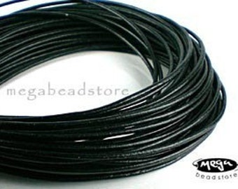 12 feet 3mm Black Greek Leather Cord for Necklace