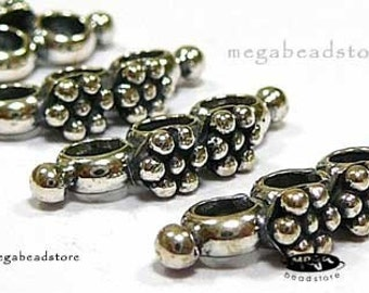 4 pcs 3-Holes Bar Connector Bali 925 Sterling Silver Oxidized Beads B180