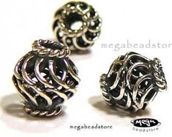 5 pcs Bali Sterling Silver 925 Beads Handmade 8mm B227