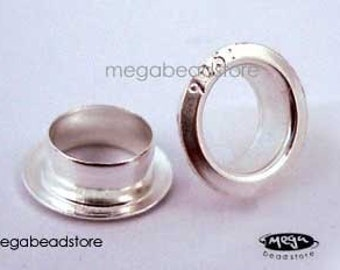 200 pcs Large 4.7mm Hole Marking 925 Sterling Silver Grommet Bead Caps F238-5