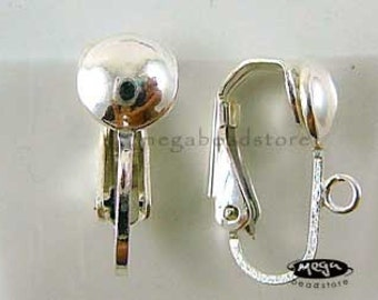 2 Pairs Clip on Earring Post 925 Sterling Silver Earring Findings F154