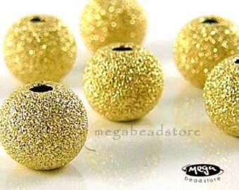 4 pcs 7mm Stardust 14k Gold Filled Beads Sand Blast B39GFSD