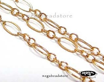 5 feet 14K Gold Filled Loose Chain 4mm x 2mm CH17