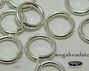 100 pcs 5mm 925 Sterling Silver Open Jump Rings 20.5 Gauge F29