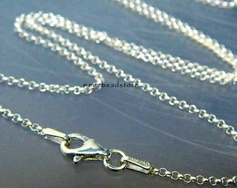 30 inch Italy 925 Sterling Silver Rolo Chain 1.5mm Necklace FC16- 1 pc