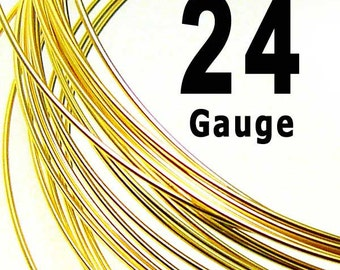 10 feet 24 Guage Gold Filled Wire 14K Round Dead Soft DS