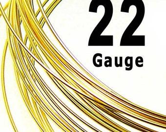 5 feet 22 Gauge Gold Filled Wire Half Hard HH