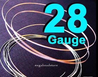40 feet 28 Gauge Sterling Silver Round Wire Half Hard (HH)