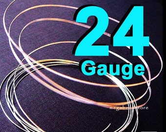 8 feet 24 Guage 925 Sterling Silver Wire Half Hard (HH)