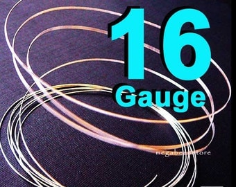 16 Gauge Sterling Silver Wire Round Half Hard 16 Gauge - 21 inch