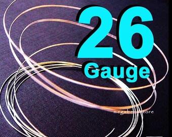 20 feet 26 Gauge Sterling Silver Wire Half Hard (HH)