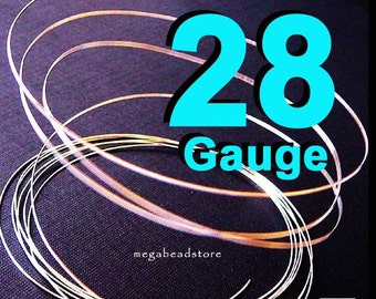 20 feet 28 Gauge 925 Sterling Silver Wire  Half Hard (HH)