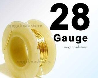 0.5 oz (63 ft) 28 Gauge 14K Gold Filled Wire Round Half Hard HH