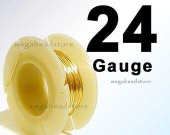 24 Gauge Gold Filled Wire Half Hard (HH) Round- 0.5 Troy oz. (28 ft)