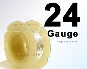 48 feet 1 oz 24 Gauge Wire 925 Sterling Silver Wire Half Hard