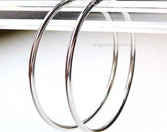24mm Endless Hoop Earring 925 Sterling Silver F336- 4 pcs