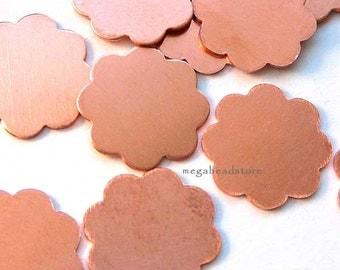 20 pcs 14mm Flower Blanks 8 Petals 24 Gauge Copper Stamping Blanks BLC2