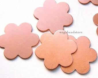 10 pcs 18mm Flower Blanks 6 Petals 24 Gauge Copper Stamping Blanks BLC4