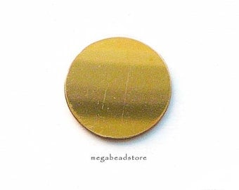 16mm (5/8 in) Round Gold Filled Blanks 20 Gauge Stamping Blanks BLGF1- 1 pc