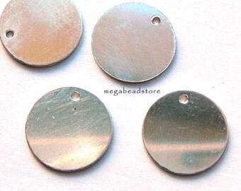 4 pcs 11mm Round 925 Sterling Silver Blanks 24 Gauge Stamping Blanks BLS1