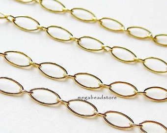 3 feet 5mm 14K Gold Filled Chain Oval Long and Short Links Loose Chain CH59